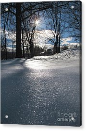 Sunlight On Snow Acrylic Print