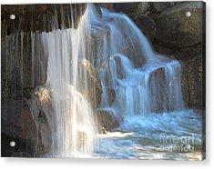 Sunlight On The Falls Acrylic Print by Deb Halloran