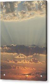 Sunlight Shining Through Clouds And Acrylic Print by Keith Levit