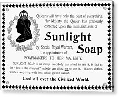 Sunlight Soap Ad, 1896 Acrylic Print
