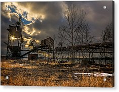Sunlight Through A Coal Loader Acrylic Print