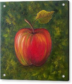 Acrylic Print featuring the painting Sunlit Apple Sold by Susan Dehlinger