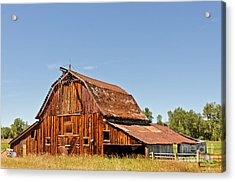 Acrylic Print featuring the photograph Sunlit Barn by Sue Smith