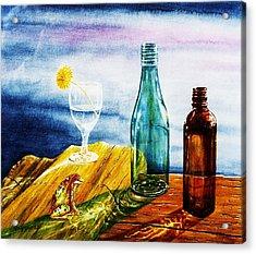 Sunlit Bottles Acrylic Print