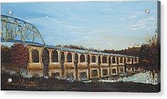Sunlit Bridge Acrylic Print by Monica Veraguth
