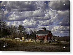Acrylic Print featuring the photograph Sunlit Farm by Betty Denise
