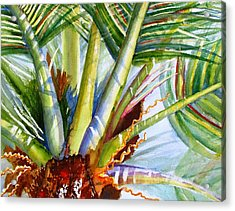 Sunlit Palm Fronds Acrylic Print by Carlin Blahnik