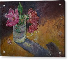 Sunlit Roses Acrylic Print by Horacio Prada