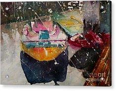 Sunlit Rowboat Acrylic Print