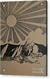 Acrylic Print featuring the drawing Sunny 300 Days A Year by Stuart Engel