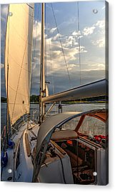 Sunny Afternoon Inland Sailing In Poland 2 Acrylic Print