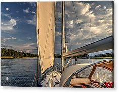Sunny Afternoon Inland Sailing In Poland Acrylic Print