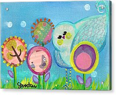 Sunny Birdy And The Dandies Acrylic Print