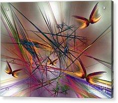 Sunny Day-abstract Art Acrylic Print by Karin Kuhlmann