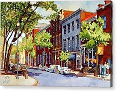 Sunny Day Cafe Acrylic Print
