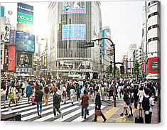 Sunny Day In Shibuya Acrylic Print by Xavierarnau