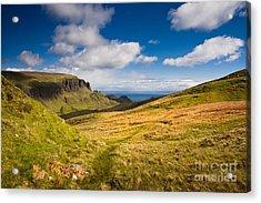 Sunny Day In The Mountains Acrylic Print by Maciej Markiewicz