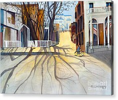 Sunny December Afternoon Acrylic Print by Sandy Linden