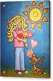 Sunny Girl Acrylic Print by Cherie Sexsmith