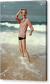 Sunny Harnett On A Beach Acrylic Print by Leombruno-Bodi