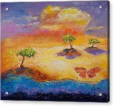 Sunny Islands Acrylic Print by William Killen