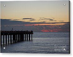 Acrylic Print featuring the photograph Sunny Isles Fishing Pier Sunrise by Rafael Salazar