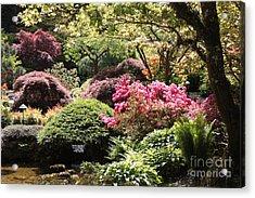 Sunny Japanese Garden Acrylic Print by Carol Groenen