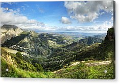 Acrylic Print featuring the photograph Sunny Mountains View With Picturesque Clouds by Julis Simo