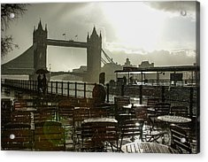 Sunny Rainstorm In London England Acrylic Print