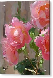 Sunny Roses Acrylic Print by Jim Pavelle
