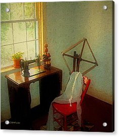 Sunny Sewing Room Acrylic Print by RC deWinter