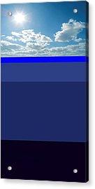 Sunny Sky Over Dead Oceans Acrylic Print by Bruce Iorio