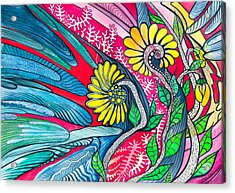 Sunny Spring Acrylic Print by Adria Trail