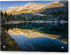 Sunny Tops And Icy Skirts At Gold Creek Pond Acrylic Print by Brian Xavier