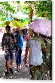 Sunny Walk Lamma Island Acrylic Print by Yury Malkov