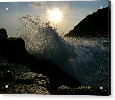 Sunny Wave Acrylic Print by Alessio Casula