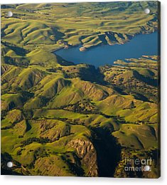 Sunol Wilderness From Above Acrylic Print by Matt Tilghman