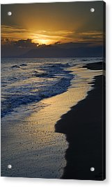 Sunrays Over The Sea Acrylic Print by Guido Montanes Castillo