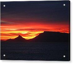 Sunrise Over Table Mountain Acrylic Print