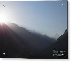 Sunrise Above Gangotri Acrylic Print
