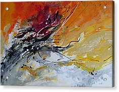 Sunrise - Abstract Art Acrylic Print by Ismeta Gruenwald
