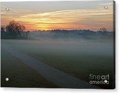 Sunrise Across The Fog Path Acrylic Print