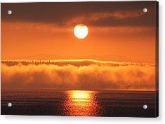 Acrylic Print featuring the photograph Sunrise And Fog by E Faithe Lester