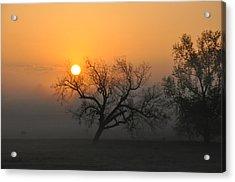 Sunrise And Fog Acrylic Print