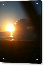 Sunrise And Sand Acrylic Print
