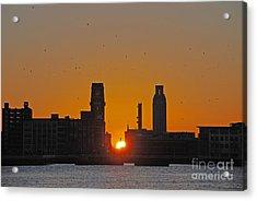 Sunrise And The City Acrylic Print