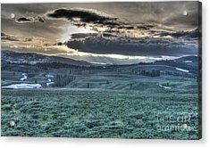 Sunrise At A Small Pond In Yellowstone Acrylic Print