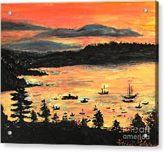 Sunrise At Bar Harbor Maine Acrylic Print