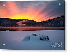 Sunrise At Bass Lake Acrylic Print