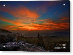 Sunrise At Bear Rocks In Dolly Sods Acrylic Print